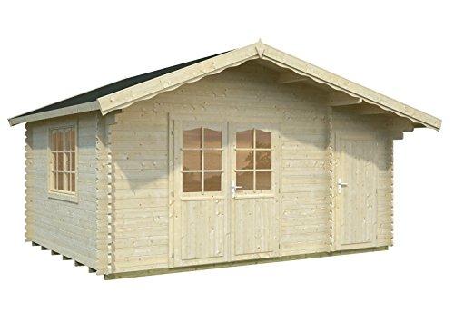 palmako blockbohlenhaus 2 raum haus luise 34 mm natur gartenhaus kaufen. Black Bedroom Furniture Sets. Home Design Ideas