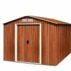 Tepro Gartenhaus / Metallgerätehaus Titan 8x8 Holzoptik