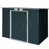 Tepro 7236 Metallgerätehaus Pent Roof 6 x 4, anthrazit