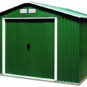 Tepro Metallgerätehaus Haustyp, 5 Colosus, 10 x 8, Grün