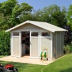 Gerätehaus Kunststoff Grosfillex Utility V 7,5 weiss/graugrün 7,53 m²