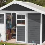 GROSFILLEX Kunststoffhaus »Deco H 7,5« dunkelgrau, weiß