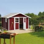 Grosfillex Deco H11 weiss-rot Gartenhaus
