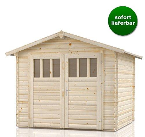 Gartenhaus Holz Sommerruhe 2 - Satteldach, 2,75 x 2,75 Meter aus 28 mm, ca. 5,24 m²