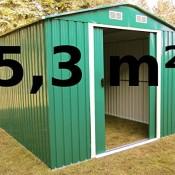 Gartenhaus Metall Geräteschuppen 5,3m² aus verzinktem Stahlblech Metall grün von AS-S
